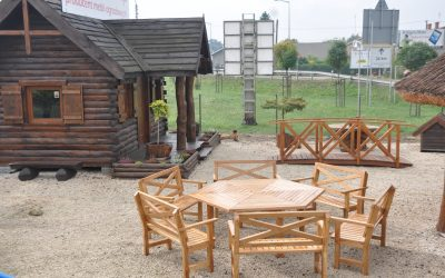 meble ogrodowe drewniane - krzyże pruskie