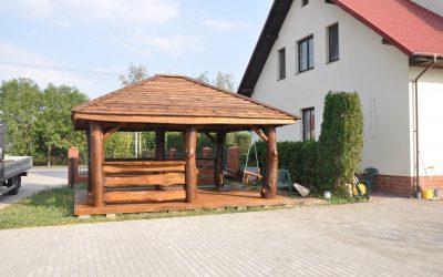 altana drewniana kryta deska
