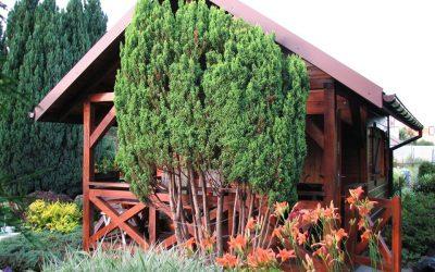 domek drewniany , domek letniskowy