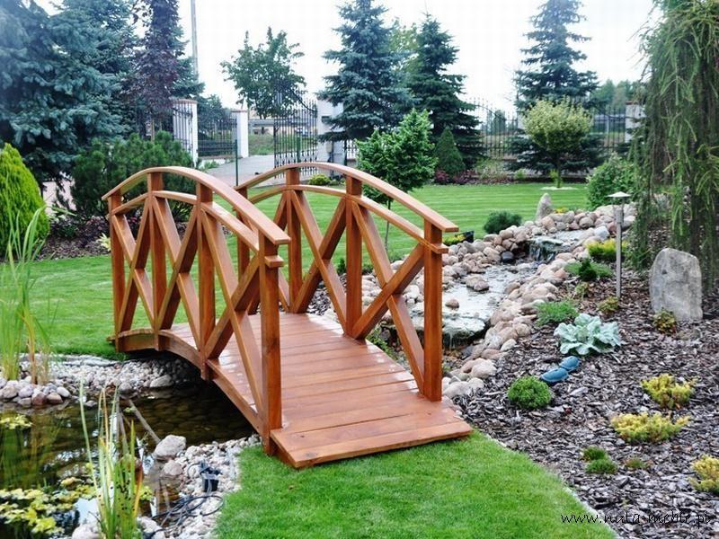 mostek drewniany kładka drewniana