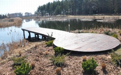 pomost drewniany