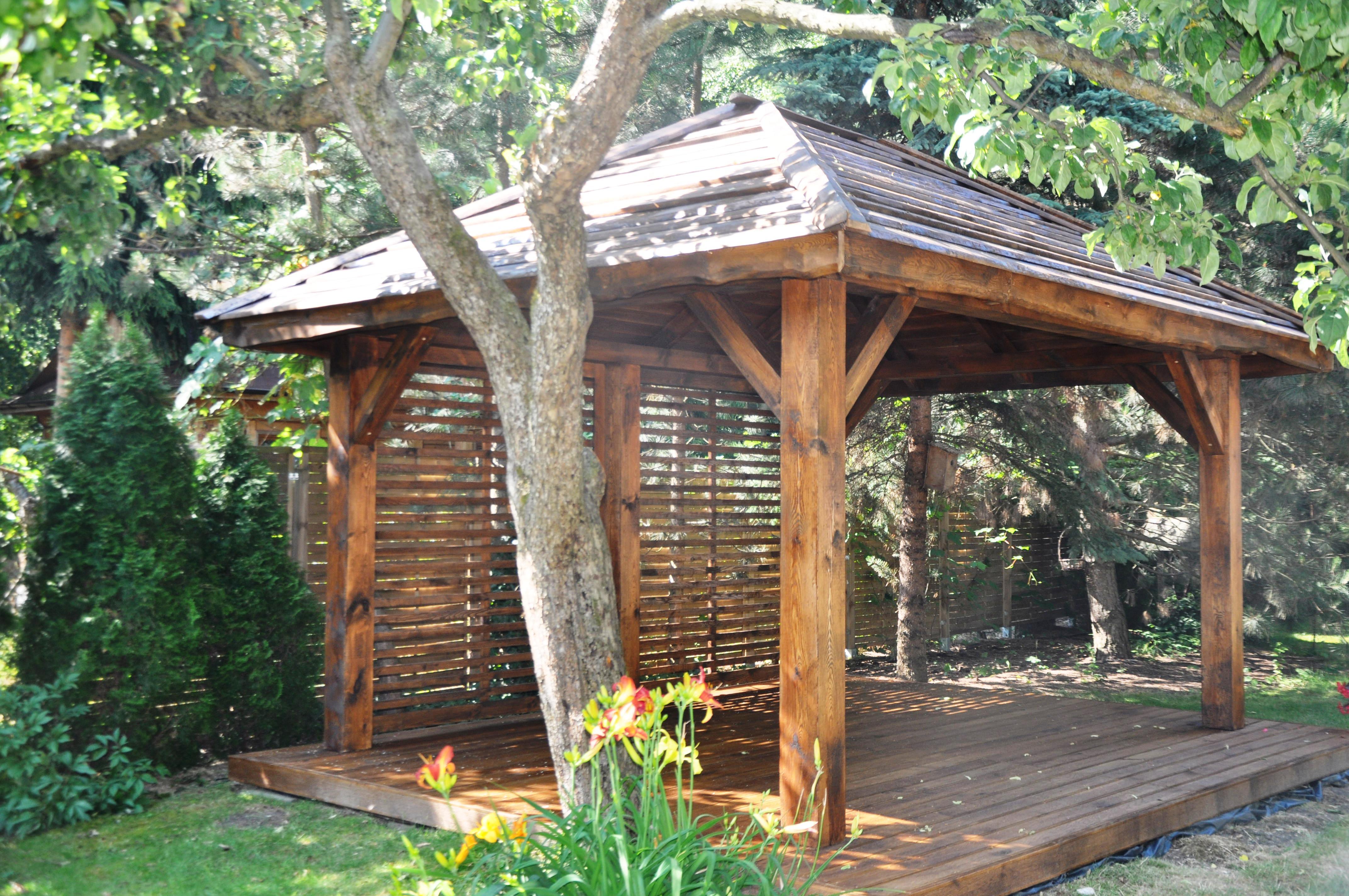 altana drewniana - trejaż