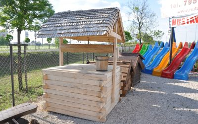 studnia drewniana -wiór osikowy